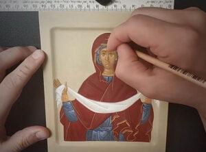 Пишем икону Покрова