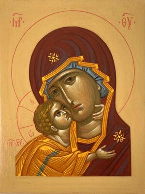 Ікона Богородиця оплічна, о1520-001