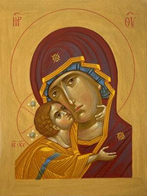 Ікона Богородиця оплічна, о1520-002